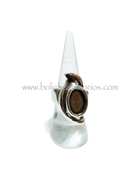 Anillo Ovalado para Cristal 14mm Ajustable de Zamak