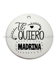 Medalla Te Quiero Madrina o Padrino