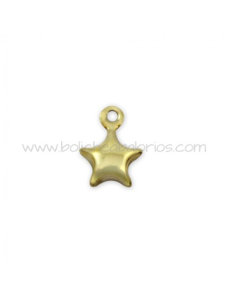 Colgante Estrella Plata Chapada en Oro 6mm