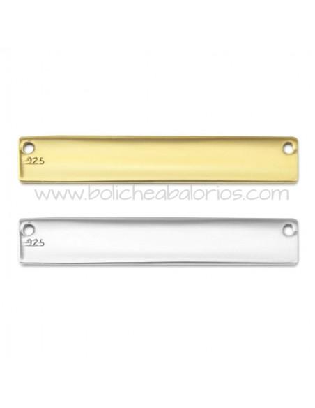 Placa para Personalizar de Plata de Ley 40mm