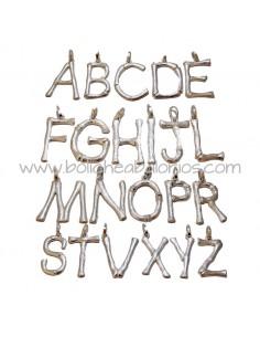 Letras de Zamak para Colgar Plateadas 48mm