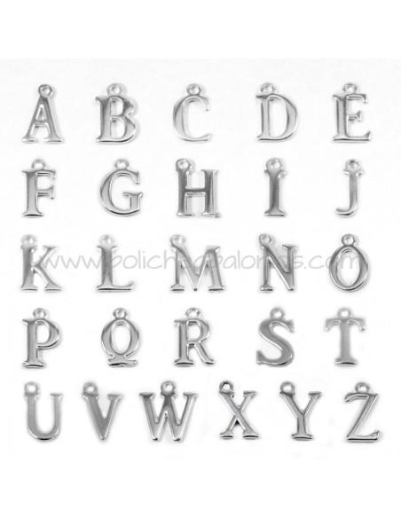 Letras de Zamak para colgar 12mm