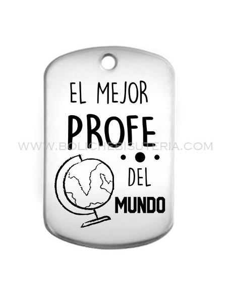 Placa llavero PROFESORES EL MEJOR