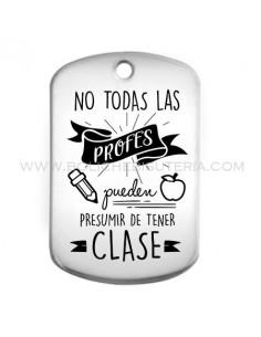Placa llavero PROFESORES CLASE