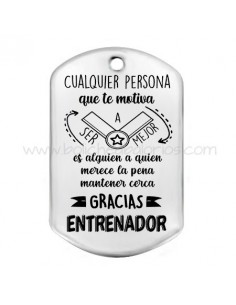 Placa ENTRENADOR 49 mm Zamak