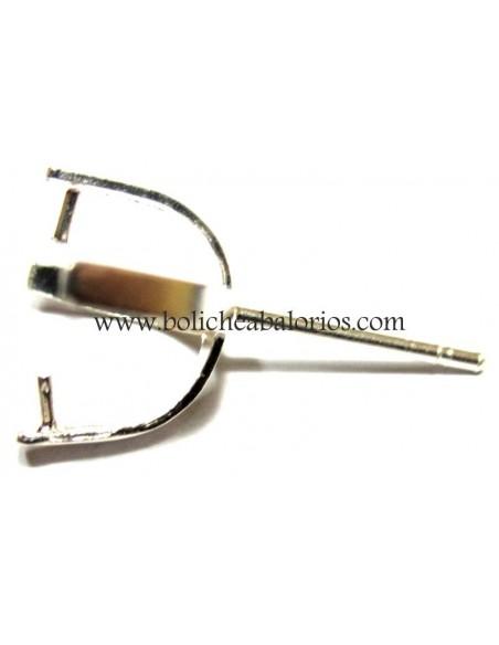 Pendiente Cruceta con Palillo 6mm Plata de Ley