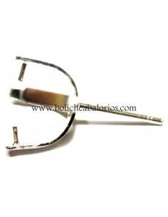 Pendiente Cruceta con Palillo 12mm Plata de Ley