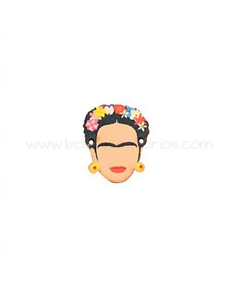 Conector de Madera Frida Kahlo 20x24mm