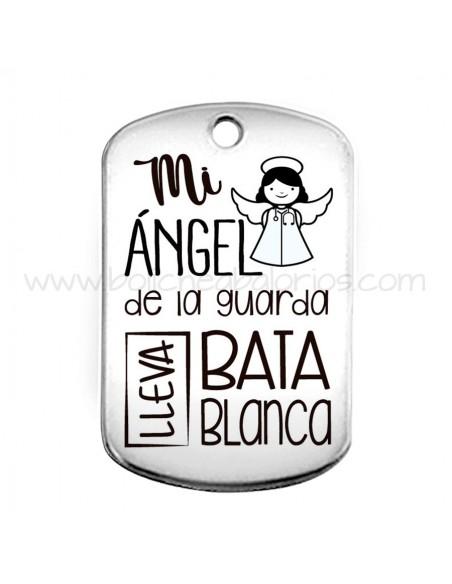 Placa llavero Mi angel de la guarda