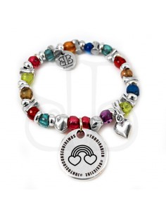 pulsera personalizada arcoiris