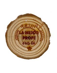 Medallon Madera PROFE