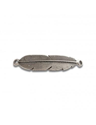 Entrepieza Cinturon con Forma de  Pluma 15 cm