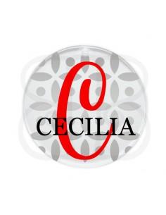 Placa acrilica con inicial y nombre