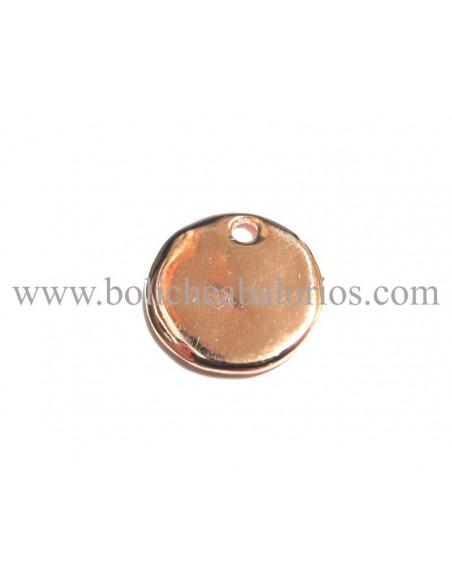 Moneda 15mm Zamak Oro Rosa para Grabar