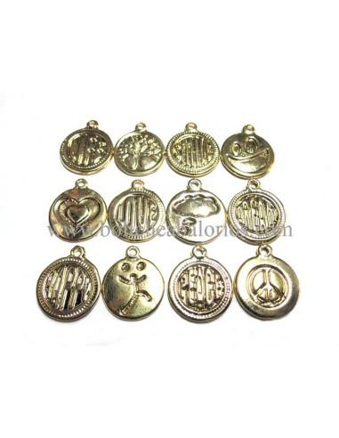 Moneda Deseos 15mm Dorado
