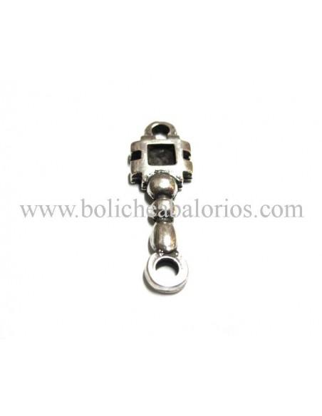 Conector Cuadrado 2 anillas Alargado Metal