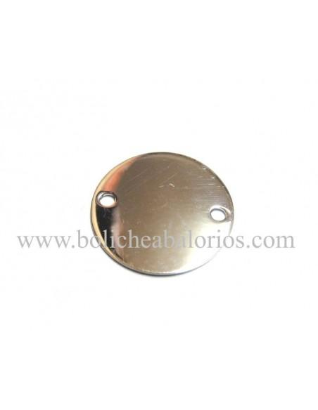 Moneda Conector de plata de ley 2 agujeros
