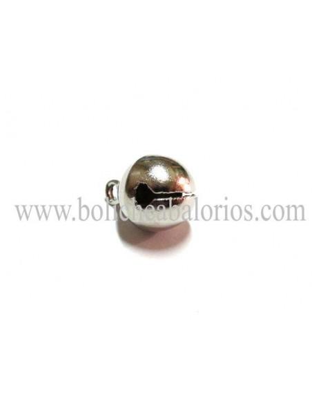 Cascabel de 10 mm plata