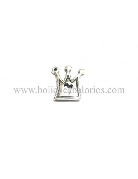 Colgante Corona de Reina Plateado Zamak