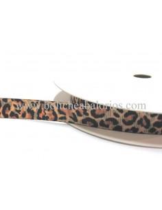 Cinta grogre estampado de leopardo