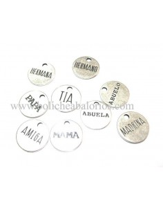 Moneda Familia 19mm Zamak