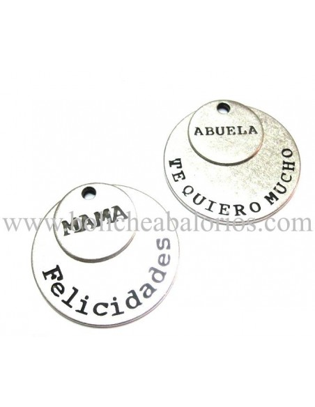 Medallas Familia 19mm Zamak