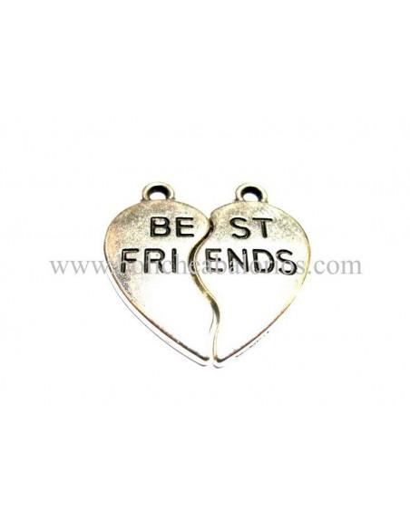 "Colgante Corazon Partido ""Best Friends"""