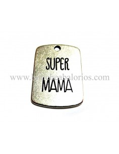 Placa con grabado Super Mama