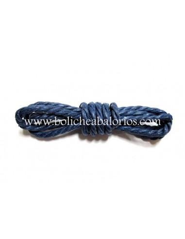 Cordon de algodon retorcido azul 2.5mm