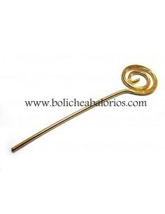 Bastón de Bisutería con Cabeza Espiral