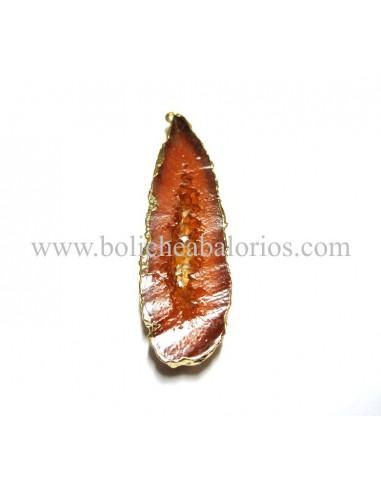 Colgante resina ovalado