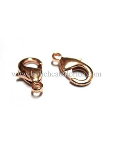 Cierre Clasico de Mosqueton de 14mm Oro Rosa
