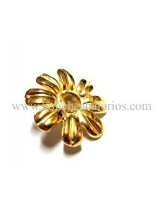 Pin Flor Baño de Oro para Brazalete