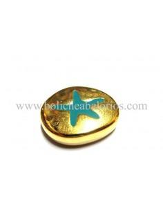 Cuenta esmaltada oro