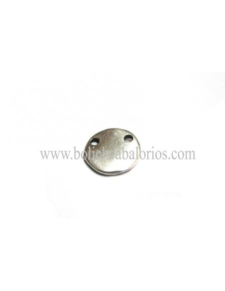 Moneda 15mm Doble Agujero para Grabar Zamak