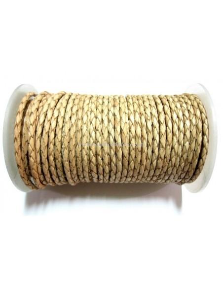 Cordón de Cuero Trenzado de 3mm