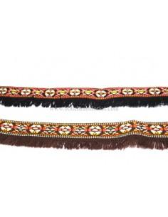 Tira etnica con flecos de 35 mm