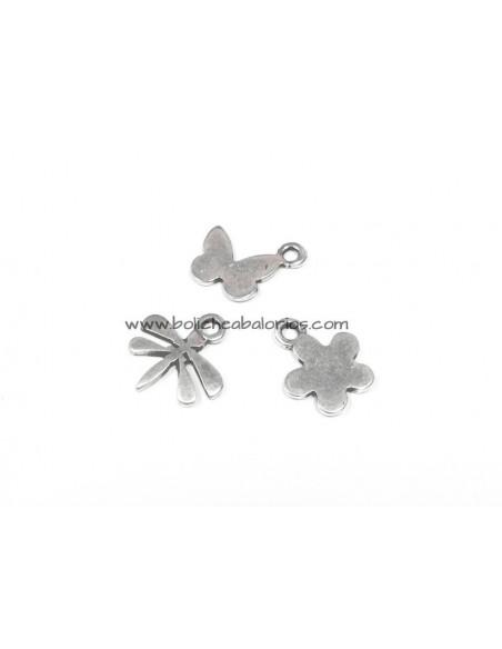 Colgantes Mariposa y Flor 15mm Zamak