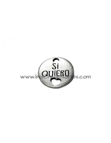 "Moneda ""Si Quiero"" 19mm Zamak"