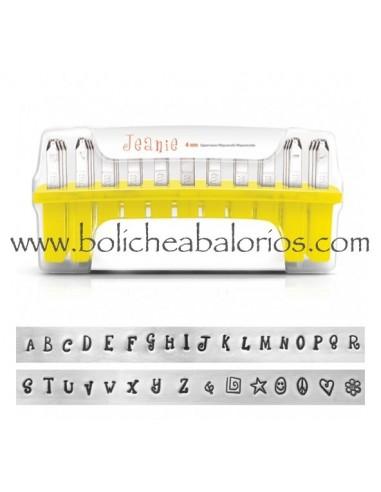 Kit Letras para Estampación Jeanie 4mm