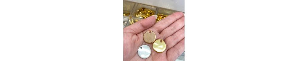 Colgantes, conectores, cierres y otras piezas lisas especial para el grabado a laser o joyeria