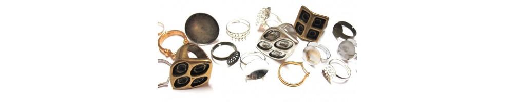 Bases metálicas para elaboración de anillos.