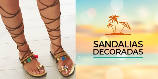 Decora tus sandalias para el verano
