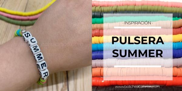Pulsera Summer con Discos de Resina